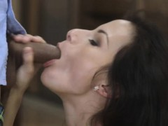 Horny and busty Alexis gets her pussy a cum deposit