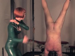 Redhead bdsm mistress caning and spanking