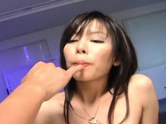 Satomi Maeno has boobs sucked and gets dicks to suck before