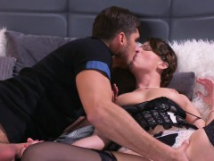 Milf in underwear licked and fucked