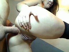 Filthy blondie girlfriend first time anal sex in doggystyle