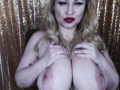 38G Monster Natural tits On Hairy Blonde MILF