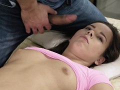 Nice cutie stretches tight vagina and gets devirginized