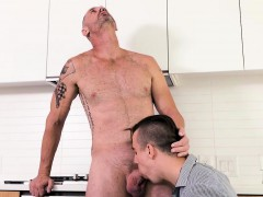 FamilyDick - Stepson sucks dads cock when caught nude on cam