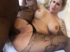 Busty Amateur Slut Taking A Black Dick
