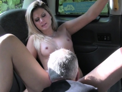 Blonde banged on backseat of taxi