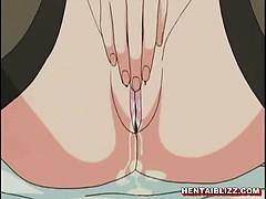 Japanese hentai maid self masturbation