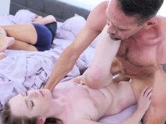 Karlie Brooks riding like a cowgirl on Rich huge cock