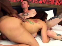 Hot Shemale Dap With Cumshot