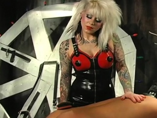 Hot ebony playgirl gets strapped and mistreated like a whore
