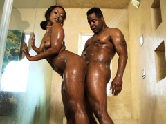 Black Therapy In The Shower