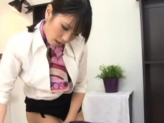Sexy babe on all fours fingered and gives fleshly blowjob
