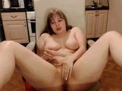 Curvy Blonde Fucks Her Pussy And Ass