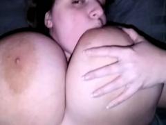Brunette Bbw With Huge Boobs Sucking Cock
