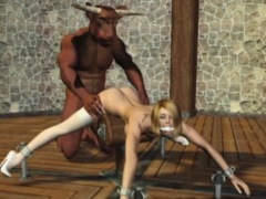 3d Poor Girls Brutally Fucked By Monsters!