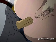 Hentai girl gets cunt licked and ass fucked in group at