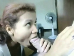 Fat Cock Blowjob and Surprise Cumshot- Hidden Cam