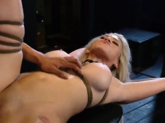 Slave Rough Anal First Time Big-breasted Platinum-blonde Bom
