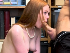Redhead Busty Shoplifting Teen Didnt Want To Cooperate