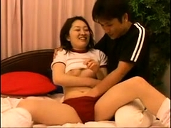 Asian milfs hairy box fingered close up