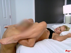 Sexy goddess stepmother gets fucked hard