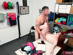 Redhead Shoplifter Fucked By Officer