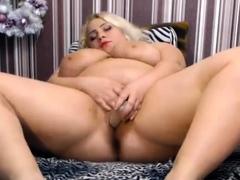 Blonde russian bbw amateur webcam fucking