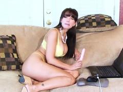 Catalina Cruz oiled up fitness ass hot milf fucks on webcam