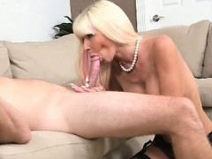 MILF Kasey On Her Knees For Young Stud