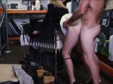 Sexy hot blonde milf pawns her twat and fucked for money