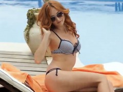 Stunning Redhead Getting It On Outside