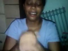 Ebony Girlfriend Giving Head To A BBC POV