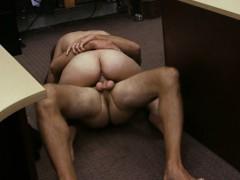 Sexy big titted Cuban chick got banged at the pawnshop