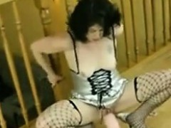 Mature Woman Rides A Very Long Dildo