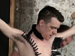 Twink movie Sean McKenzie is trussed up and at the grace of